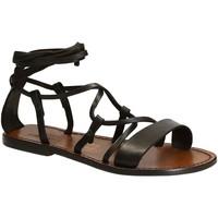 Zapatos Mujer Sandalias Gianluca - L'artigiano Del Cuoio 519 D MORO CUOIO Testa di Moro
