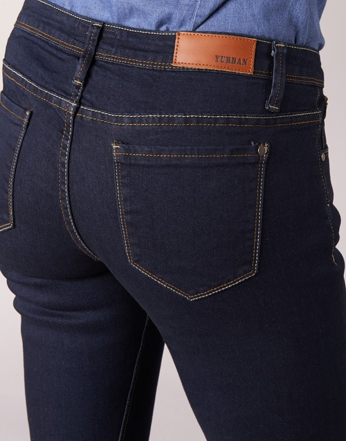 Yurban AzulOscuro Textil Vaqueros Slim Ietoulette Mujer n0w8kZNPXO