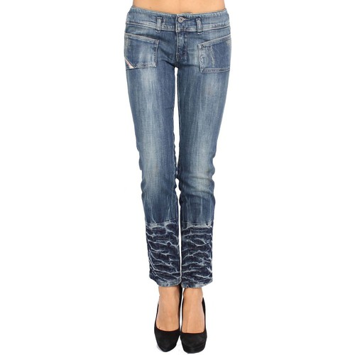 textil Mujer Vaqueros Diesel - Jeans Mujer HUSHY 68G - Slim - Ankle Length - Stretch bleu