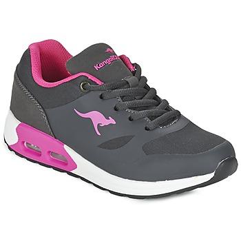 Zapatos Niña Zapatillas bajas Kangaroos KANGA X Gris / Rosa