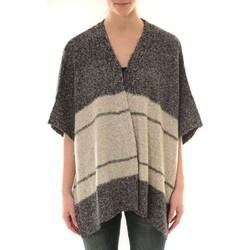 textil Mujer Chaquetas de punto Barcelona Moda Gilet YM21 Gris et Beige Gris