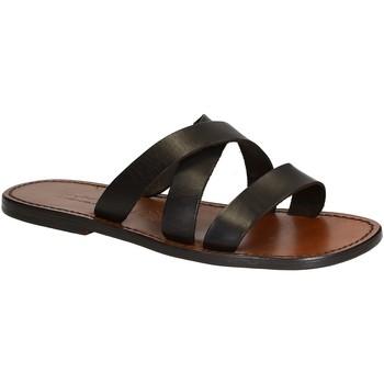 Zapatos Hombre Zuecos (Mules) Gianluca - L'artigiano Del Cuoio 546 U MORO CUOIO Testa di Moro