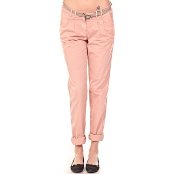 textil Mujer Pantalones Tom Tailor Pantalon Ceinture saumon Naranja