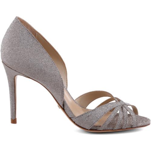 Zapatos Mujer Sandalias Schutz Sapatos Open Toe Metalizado Oro