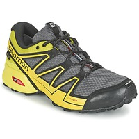 Zapatos Hombre Running / trail Salomon SPEEDCROSS VARIO GTX® Gris / Verde / Amarillo
