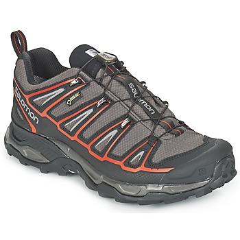 Zapatos Hombre Senderismo Salomon X ULTRA 2 GTX® Gris / Negro / Rojo