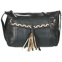 Bolsos Mujer Bandolera Pieces POFO LEATHER Negro