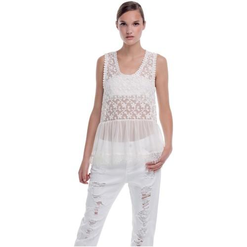 textil Mujer camisetas sin mangas Kocca Top Kanado Blanco