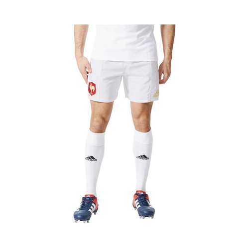 textil Hombre Shorts / Bermudas adidas Performance FFR Away Short Rugby Blanco