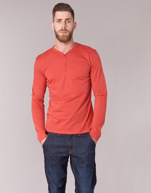 textil Hombre Camisetas manga larga BOTD ETUNAMA Rojo