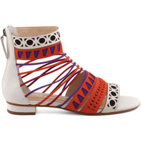 Zapatos Mujer Sandalias Schutz Sandálias Geometric Colorful Multicolor