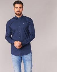 textil Hombre Camisas manga larga Tommy Jeans KANTERMI Marino