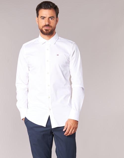 textil Hombre Camisas manga larga Tommy Jeans KANTERMI Blanco