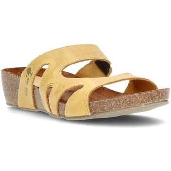 Zapatos Mujer Zuecos (Mules) Interbios W SANDALIA COMODA MUJER MOSTAZA