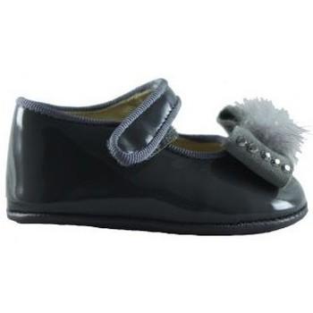 Zapatos Niños Bailarinas-manoletinas Oca Loca OCA LOCA MERCEDES CHAROL PIEL GRIS