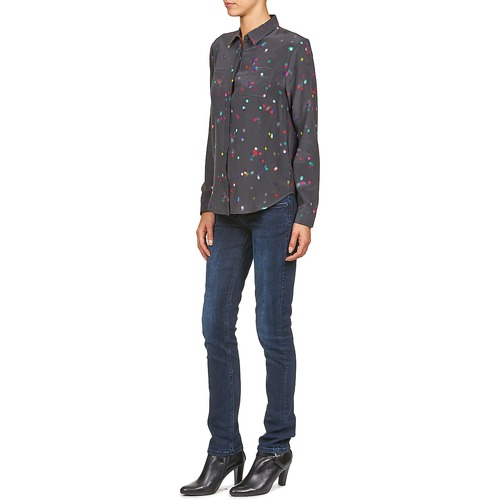 Negro Holly Camisas Textil Retro Mujer American dCBQrxoWEe