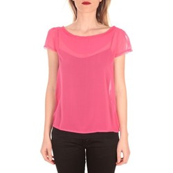 textil Mujer Camisetas manga corta Aggabarti t-shirt voile 121072 fushia Rosa