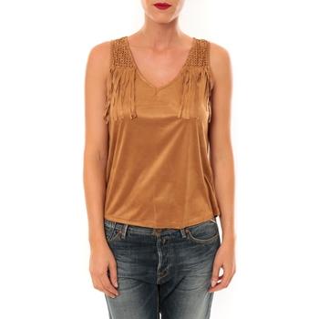 textil Mujer Tops y Camisetas Nina Rocca Top MC1998 camel Marrón