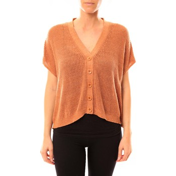textil Mujer Chaquetas de punto American Vintage GILET TIN236 ROUILLE CHINE Naranja