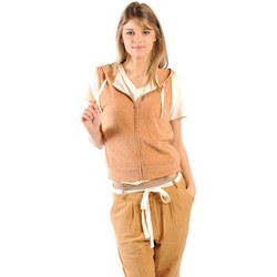 textil Mujer Sudaderas American Vintage ZIPPER CAPUCHE PRA193E11 ROUILLE CHINE Naranja