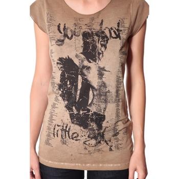 textil Mujer Camisetas manga corta Rich & Royal Tee-shirt Little 13q430 Camel Marrón