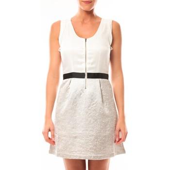 textil Mujer Vestidos cortos Vero Moda Nella S/L Short Dress 10107365 Blanc/Beige Beige