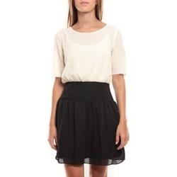 textil Mujer Vestidos cortos Vero Moda Minto 2/4 Short Dress 97759 Blanc/Noir Negro