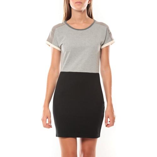 textil Mujer Vestidos cortos Vero Moda Bora SS Mini Dress 98259 Gris/Noir Negro