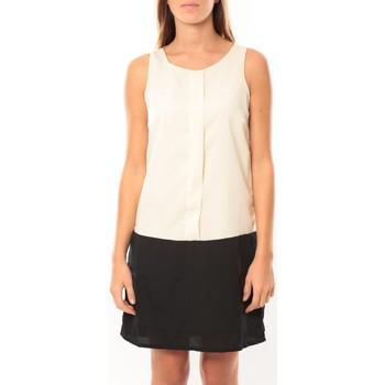 textil Mujer Vestidos cortos Vero Moda Neje sl Short Dress 10100937 Blanc/Noir Negro