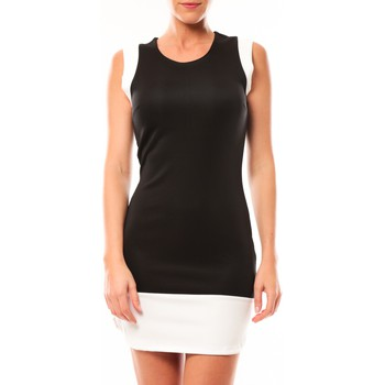 textil Mujer Vestidos cortos Vero Moda Signe S/L Mini Dress 10111107 Noir/blanc Negro