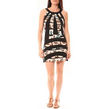 textil Mujer Vestidos cortos Bamboo's Fashion Robe BA1532 Écru/Noir Negro