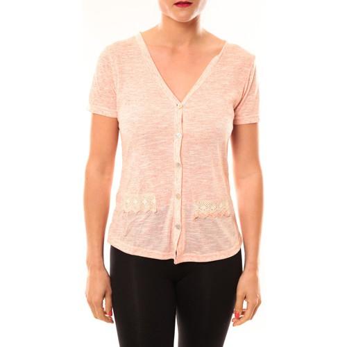 textil Mujer Chaquetas de punto Meisïe Top 50-608SP15 Corail Naranja
