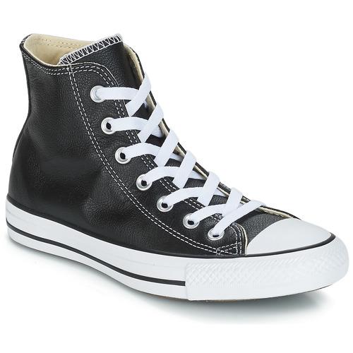 Zapatos Zapatillas altas Converse Chuck Taylor All Star CORE LEATHER HI Negro