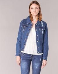 textil Mujer chaquetas denim Yurban ESPINALE Azul
