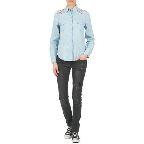 Yurban Camisas Eguatoule Textil Mujer AzulClaro 0PkwO8nX