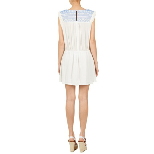 Textil Mujer Blanco Mood Cortos Moony Vestidos Ebene OkZiPXu