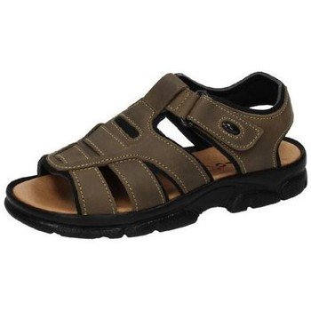 Zapatos Hombre Sandalias Dliro Sandalia de piel Marrón