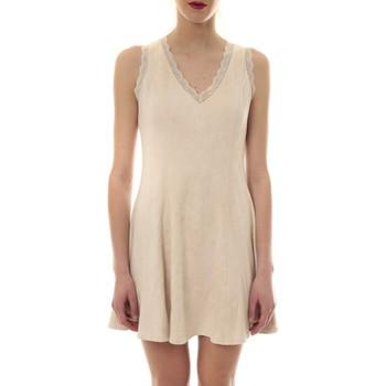 textil Mujer Vestidos cortos Vera & Lucy Robe suedine Beige R 6229 Beige