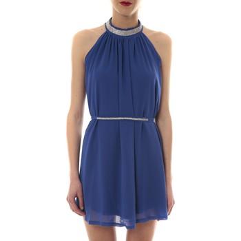 textil Mujer Vestidos cortos Vera & Lucy Robe tour de cou col strass Bleu 6W1078A Azul