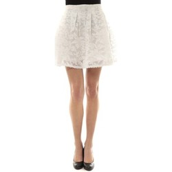 textil Mujer Faldas Vera & Lucy Jupe brodée Blanc J303 Blanco