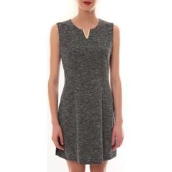 textil Mujer Vestidos cortos Vera & Lucy Robe sans manches Gris R6236 Gris