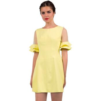 textil Mujer vestidos cortos Minueto Vestido Bella Amarillo