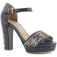 Zapatos Mujer Sandalias Cubanas Sandálias Natur1010 Blue Azul