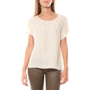 textil Mujer Camisetas manga corta Vera & Lucy Top 2585 Écru Beige