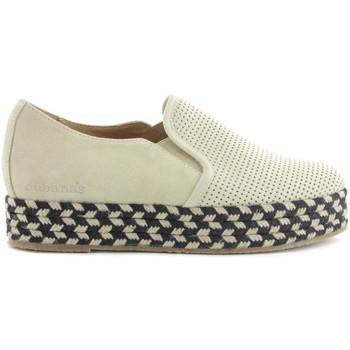 Zapatos Mujer Derbie Cubanas Alpargata Kitty410 Bone Beige