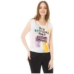 textil Mujer camisetas manga corta Little Marcel Tee-shirt Tilo Blanc Blanco