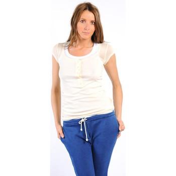 textil Mujer Camisetas manga corta American Vintage TEE-SHIRT MAS05BIS NATUREL Blanco
