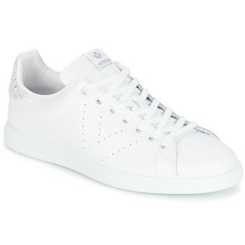 Zapatos Mujer Zapatillas bajas Victoria DEPORTIVO BASKET PIEL Blanco / Plateado