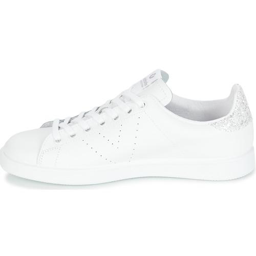 BlancoPlata Zapatos Deportivo Victoria Piel Basket Mujer Zapatillas Bajas gfI6yvYb7