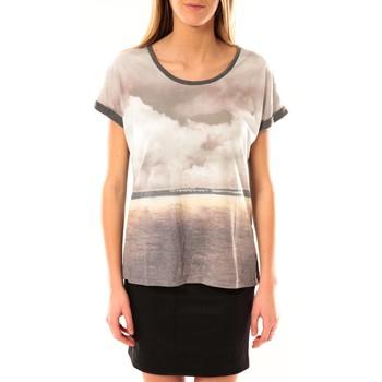 textil Mujer Camisetas manga corta Vero Moda Cloud SS Top 10096122 Gris JAUNE Gris